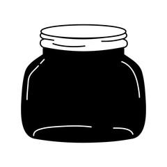 silhouette small and wide mason glass preserve