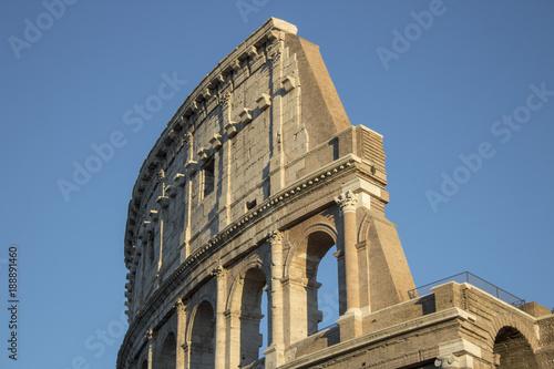 Vászonkép Colosseum or Flavian Amphitheater Detail, Rome, Italy