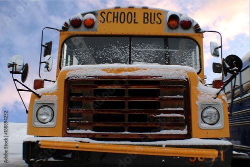 Snow on School Bus