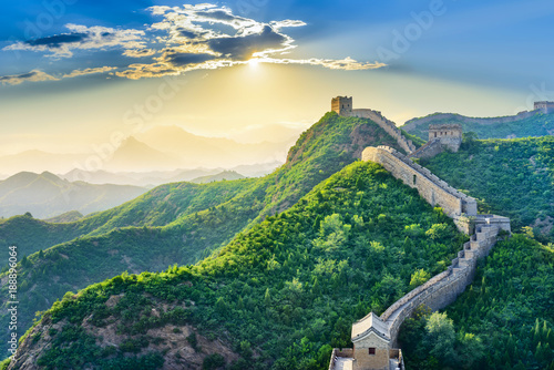In de dag Chinese Muur The Great Wall of China