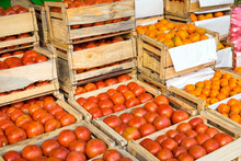 Tomatoes And Tangerines In Woo...