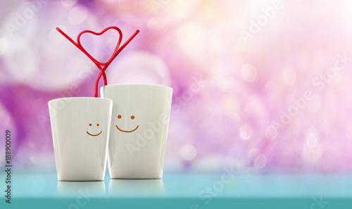 Obraz na plátně Love and Valentines Day Concept