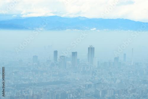 Staande foto Los Angeles モヤに包まれる東京