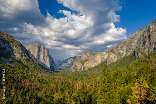 Photo  Yosemite National Park Valley summer landscape