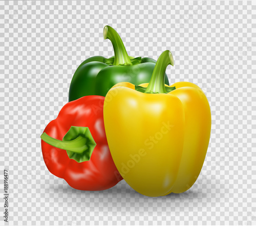 Fotomural Set of three peppers