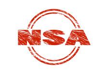 NSA Vintage Red Rubber Stamp