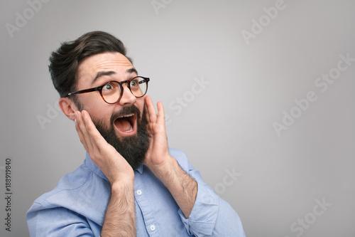 Surprised and excited man Fototapeta