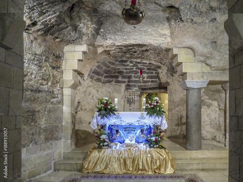 Nazareth, Israel - Interior of the Basilica of the Annunciation Canvas Print