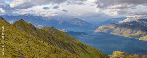 Plakat Jezioro Wanaka, widok z Roys Peak