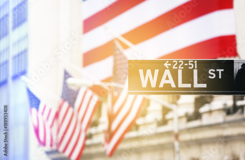 Plakat Wall street sign
