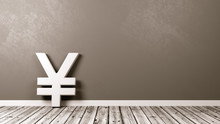 Yen Or Yuan Currency Sign On W...