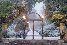 University Of Georgia Old Campus In Winter.