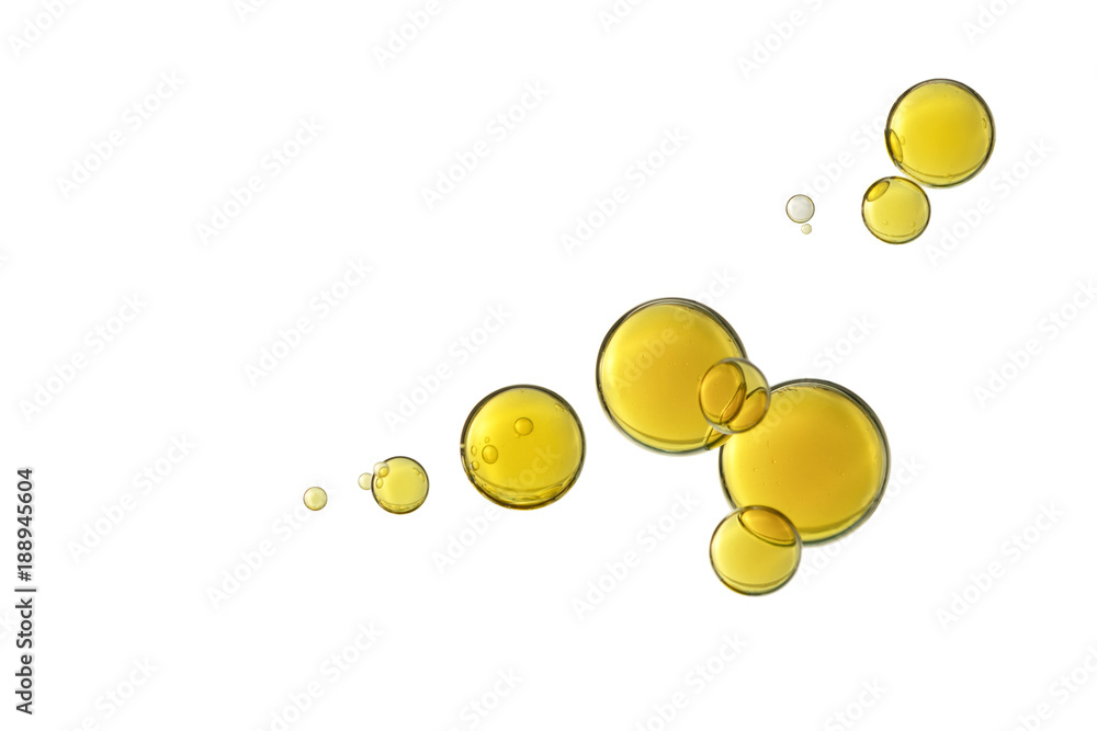 Fototapety, obrazy: Olive oil bubbles
