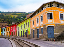 Colorful Houses In Alausi Rail...