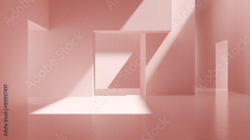 Fotografia  Interior pink abstract empty room 3D rendering