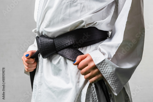 Staande foto Vechtsport Black Belt Karate Martial Art