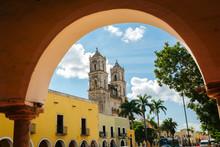 Cathedral In Valladolid Mexico