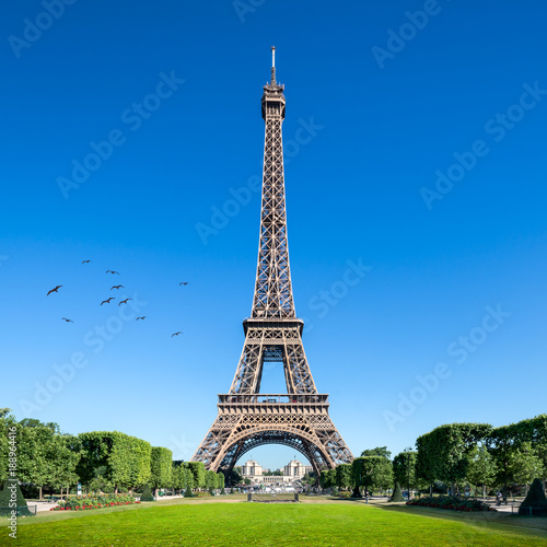 Deurstickers Eiffeltoren Eiffelturm in Paris, Frankreich