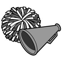 Cheerleading Icon Illustration - A Vector Cartoon Illustration Of A Cheerleading Icon.