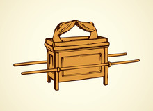 Ark Of Covenant. Vector Drawing