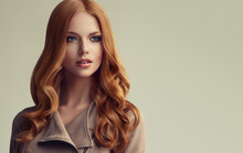 Red Head  Girl With Long  And ...