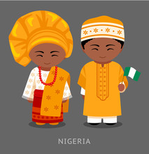 Nigerians In National Clothes ...
