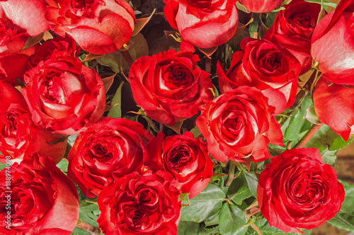 Staande foto Roses Flower bouquet from red roses
