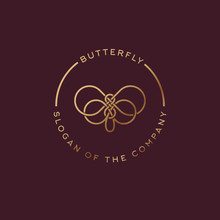 Butterfly Logo. Beautiful Deco...