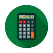 Calculator Icon, vector circle flat color llustration