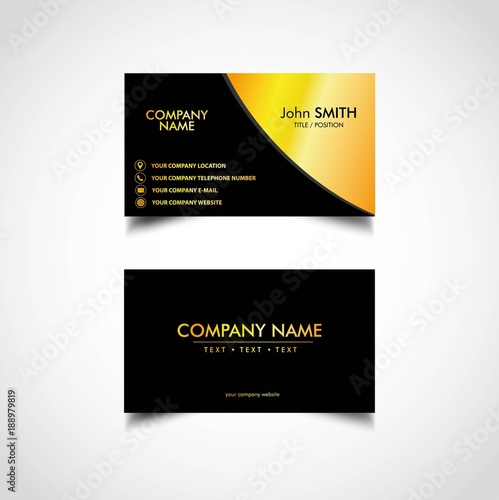 Golden business card template vector illustration eps file buy golden business card template vector illustration eps file wajeb Images