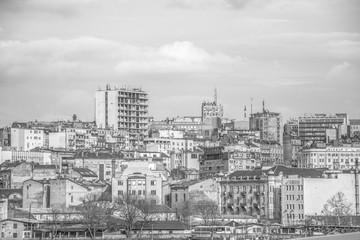 Belgrade, Serbia February 28, 2014: View of the panorama of Belgrade