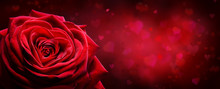 Valentine Card - Red Rose Shap...