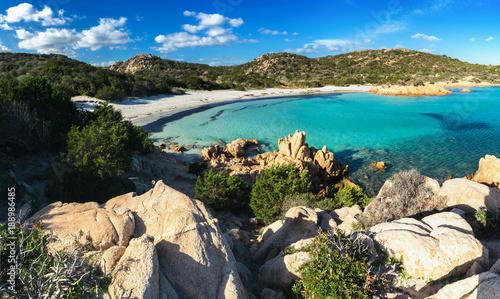 Fotografie, Obraz Panoramica sul bellissimo mare turchese e cristallino della spiaggia del Princip