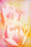 Watercolor painting styled background with flower