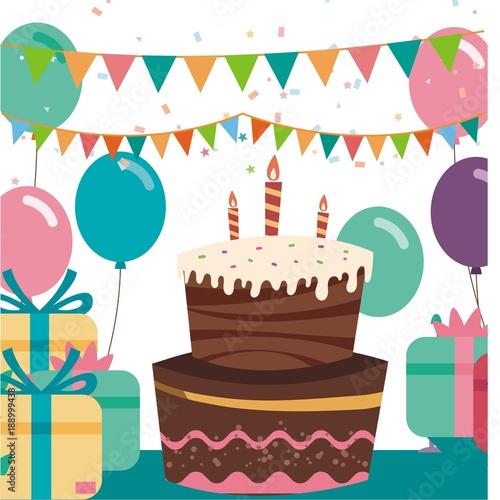 Happy Birthday Cake Logo Buy This Stock Illustration And Explore