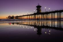 Huntington Beach Pier Purple S...