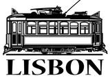 Stary klasyczny tramwaj z Lizbony - 189008060
