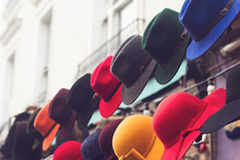 Stand With Colorful Hats On St...