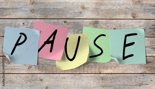 Fotografija Pause, Auszeit, Ruhezeit