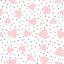 Repeated Hearts And Polka Dot....