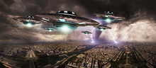 UFO Invasionover Planet Earth ...