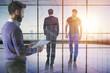 Teamwork and executive concept