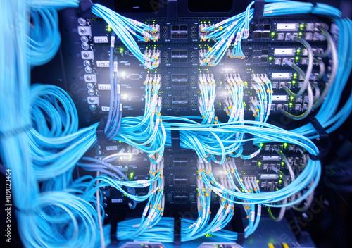 Obraz na płótnie Fibre Channel swich
