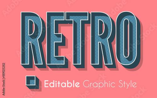 Editable 3D Retro Graphic Style Tableau sur Toile