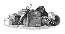 Suitcase - Vintage Illustration