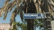 close up of a hollywood boulevard sign at los angeles in california, usa