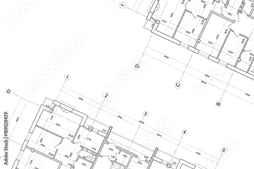 Obraz Architectural technical drawing- background - fototapety do salonu