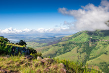 Scenic View From The Edge Over Tyhume Valley And Amathola Mountains In Hogsback , Eastern Cape, South Africa