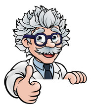 Scientist Cartoon Character Si...