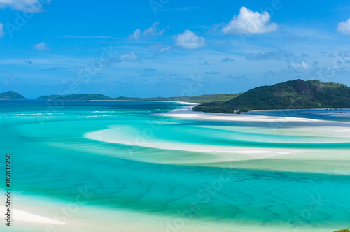Foto op Aluminium Tropical strand Aerial view of tropical island lagoon beach